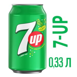 Напиток газированный 7UP (банка) 0,33л