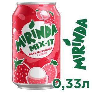 Mirinda Mix It with strawberry and lychee flavor 0.33 L